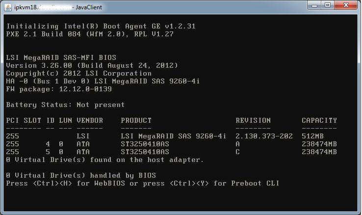 Настройка RAID1 на RAID-контроллере LSI MegaRAID