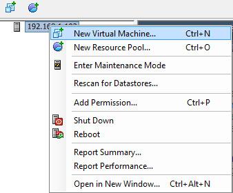 vSphere Client - создание и настройка VPS в VMware ESXi
