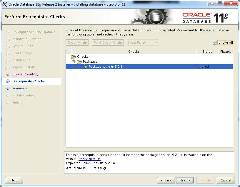 CentOS: установка Oracle Database 11g