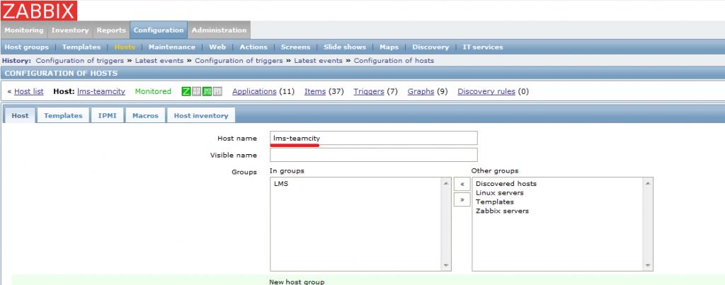 Zabbix: No active checks on server: host [hostname] not found