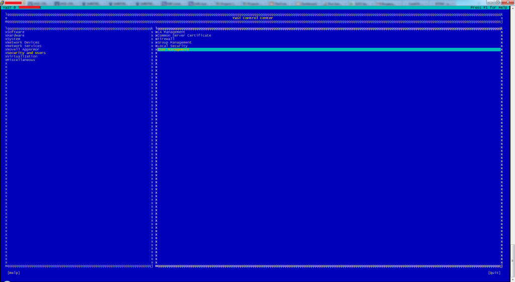 YaST2 - User Management