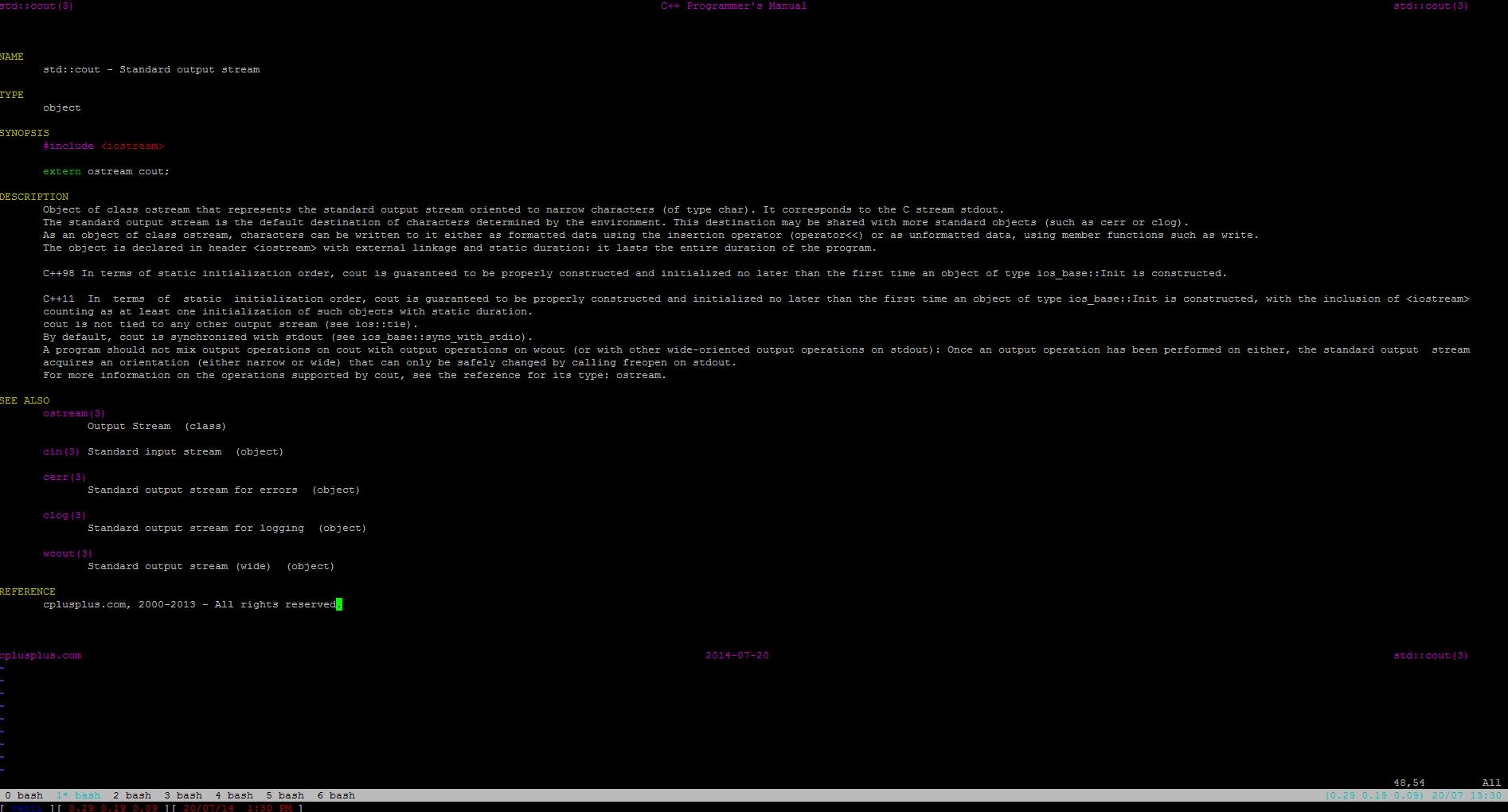 C++: используем cppman