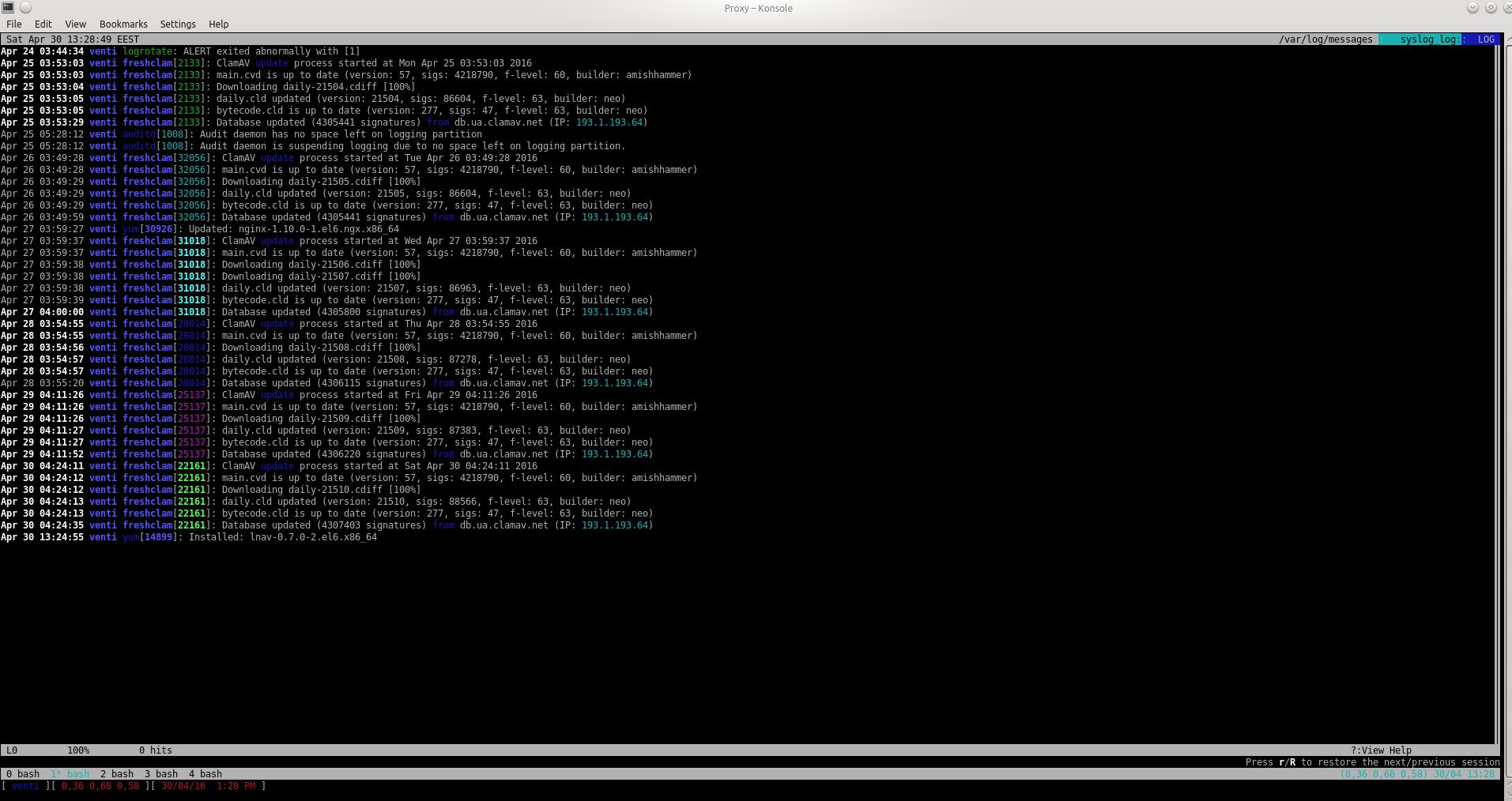 lnav: Log File Navigator — консольная утилита просмотра логов