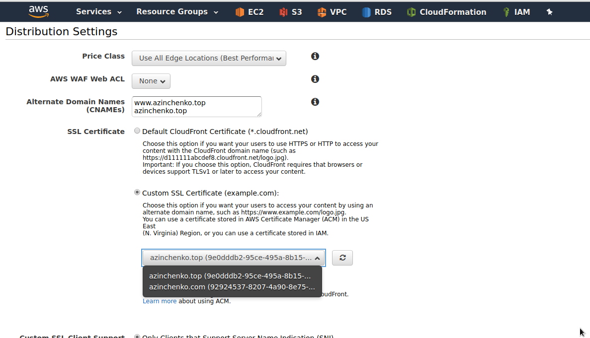 Aws ssl certificate manager cloudfront s3 static website 1betcityfo Choice Image