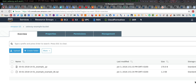 Python: скрипт бекапа файлов и баз MySQL в AWS S3