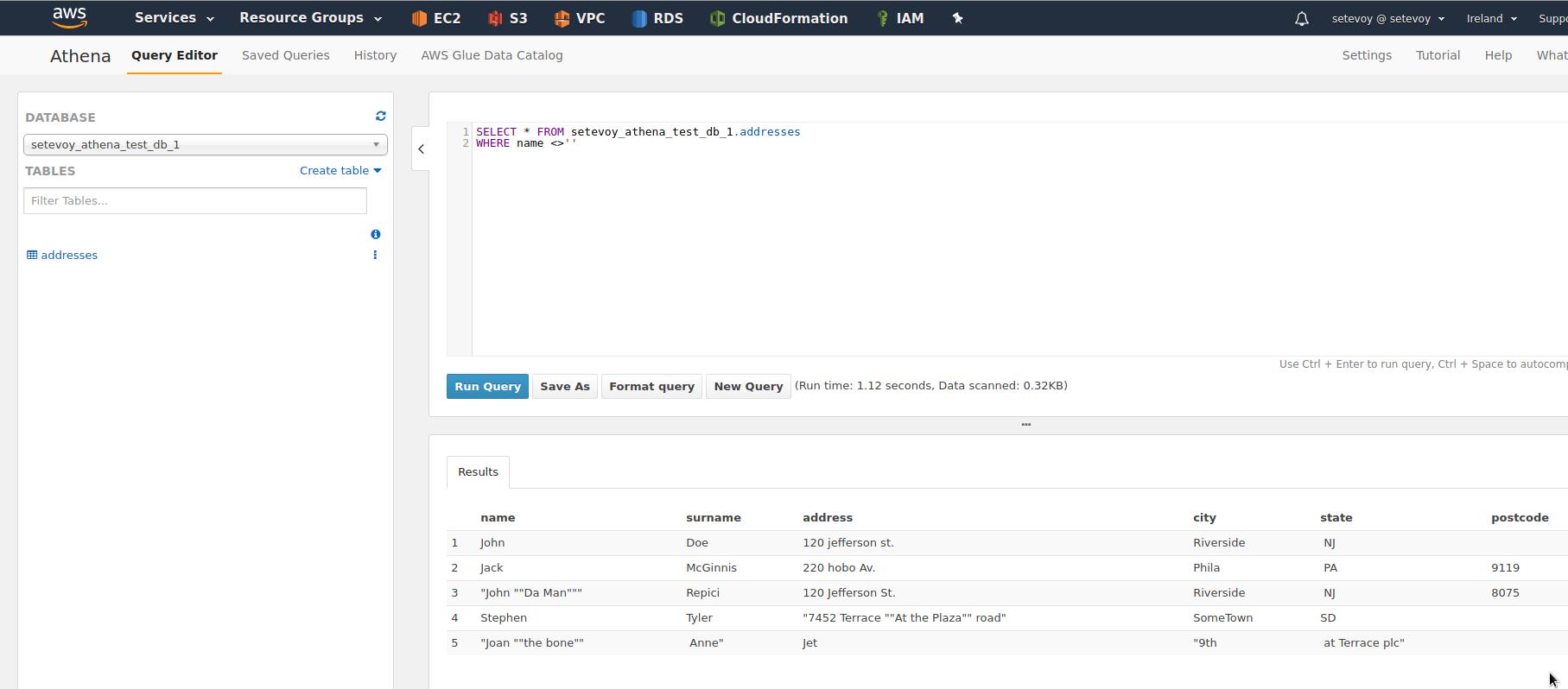 AWS: Amazon Athena — serverless сервис аналитики, примеры