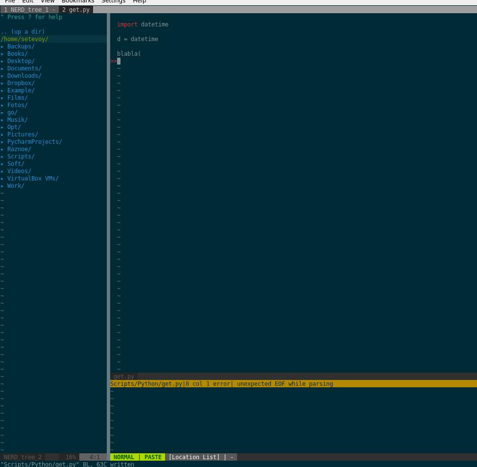 vim: превращаем редактор в «IDE» — плагины и вот это вот всё