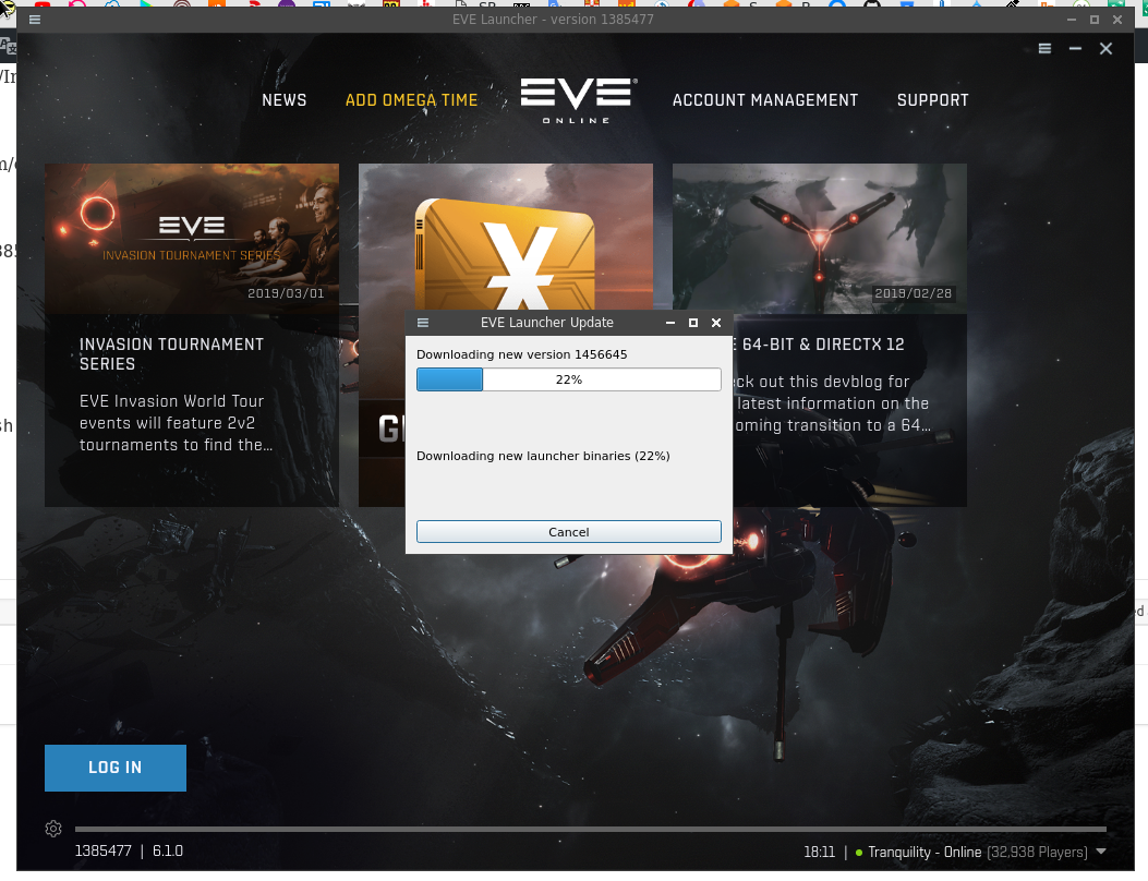 Arch Linux: installation, troubleshooting and playing EVE Online