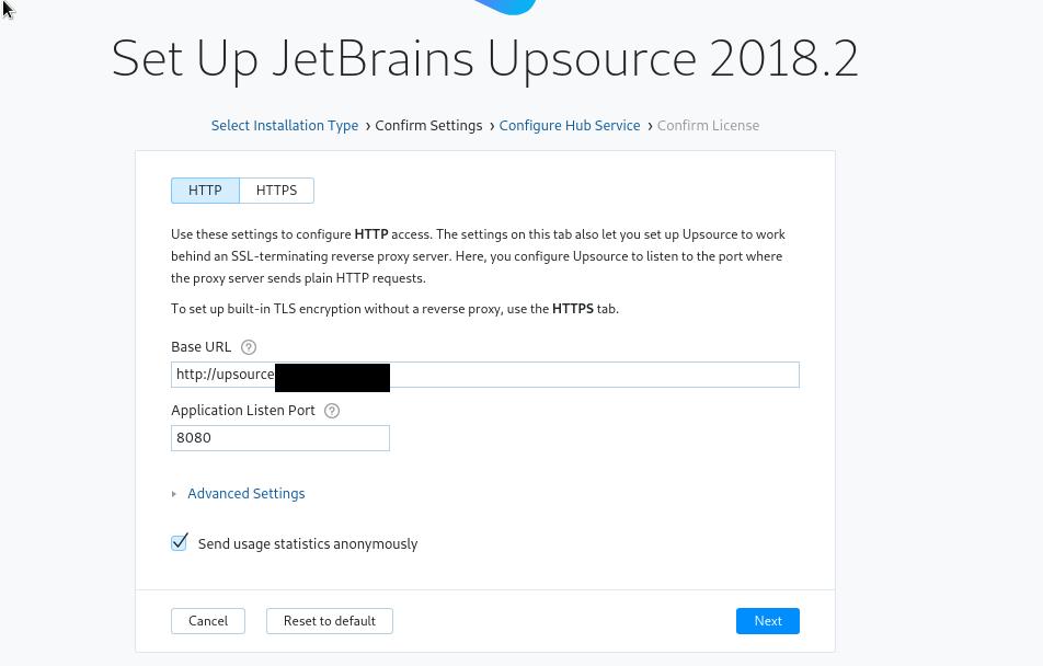 JetBrains Upsource: installation, configuration on Linux