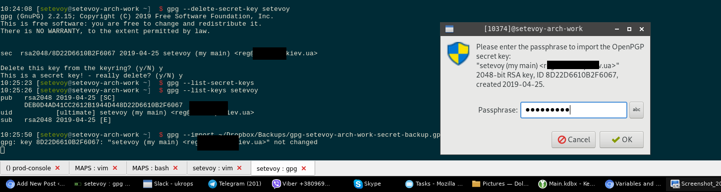 Linux: GPG-keys, Pass – passwords manager, and passwords