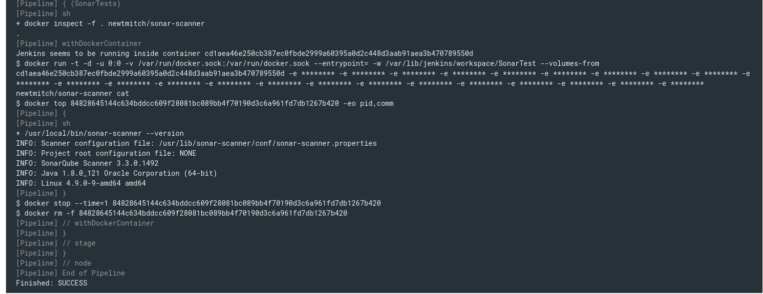 SonarQube: running tests from Jenkins Pipeline in Docker