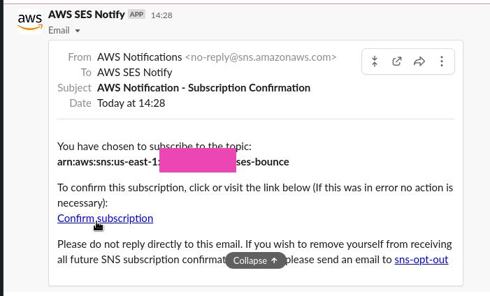 AWS: интеграция AWS SNS и Slack, и уведомления от AWS SES о bounced-письмах